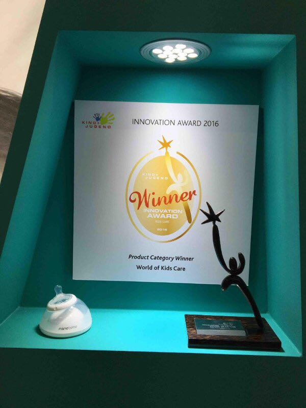 Baby bottle wins first place innovation award in an international competition